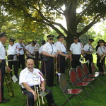 Waiting for memorial ceremony in Wilcox Park