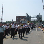 Marching in Mystic Memorial Day Parade