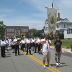 Westerly Band on Narragansett St. in Mount Carmel Procession