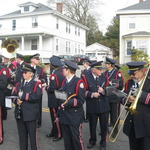 ceremony at veteran's monument in Pawcatuck