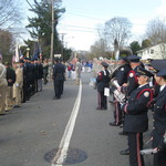 ceremony at Pawcatuck Veteran's monument
