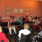 Playing Carols at Apple Rehab-Clipper