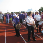First Lap of Relay for Life for American Cancer Society