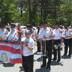 Charlestown, RI Parade preparing to march