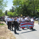 Charlestown, RI Parade waiting our turn to start marching