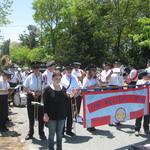 Charlestown, RI Parade lining up I