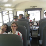 After Charlestown Parade  on bus