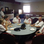 Lunch before procession at the Calabrese club