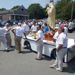 Mount Carmel comittee members with Statue