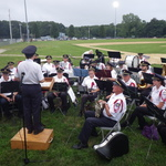 Ready for evening concert at Cimalore Field, Westerly