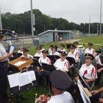 final preparations for band concert Mt Carmel 2014