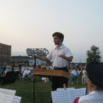 John Tafone conducts his composition