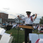 Alison Paton conducts at Mystic River Park