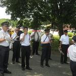 battle of Stonington Parade lined up