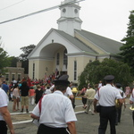 processing to St Marys Church for Mass