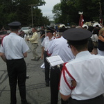 preparing for procession after Mass--Note Domingo lining up