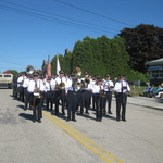Columbus Day Westerly Band on Ward Street beginning