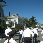 Marching up Grove Street, Westerly