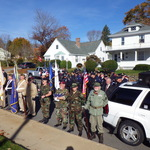 Veteran's Day ceremony at monument in Pawcatuck, CT 2014