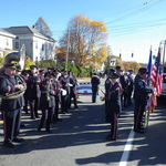 Westerly Band with Alison Patton ready to play for ceremony, CT
