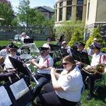 flute section prepares for Garden Market Fair Concert