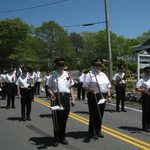 Marching on Route 1A Charlestown, RI
