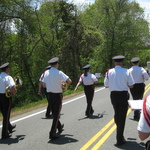 Marching on Rt 1A Charlestown Memorial Day