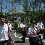 Marching down Rt 1A Charlestown, RI
