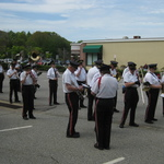 Westerly-Pawcatuck Memorial Day  preparing music and instruments