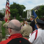 Memorial ceremony Rt 1 Pawcatuck, CT Taps