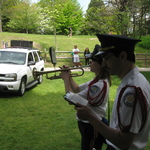 Memorial Day Ceremony Westerly RI, Dana Patton plays taps
