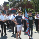 Mystic, CT forming for Memorial Day Parade, Water Street