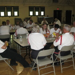 Lunch at armory table #1