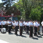 ready to march, Mystic Memorial Day Parade 2015