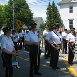 Pausing in Parade, Rt 1, Mystic, CT memorial Day 2015