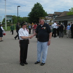 Alison Patton and the VFW leader