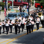 Marching past Westerly Town Hall