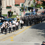 Band and Fireman in Westerly Fireman's Memorial Parade