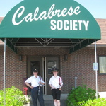Jean and Rebecca ready to start from Calabrese Society Club