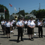 Alison and Band ready to march in procession