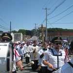 Precession moving down Oak Street