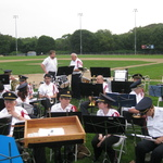 Readying for concert at Cimmalore Field for Mount Carmel Fest