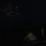 Band watching fireworks Mount Carmel 2015