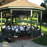 Wilcox Park Concert Julyl22, 2015 preparing for concert