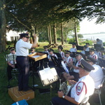 Alison Patton conducts at Shelter Harbor