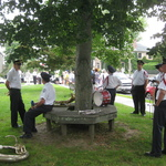 Stonington CT waiting for blessing of the fleet procession