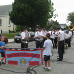 Thorp boys carrying banner for blessing of the Fleet procession