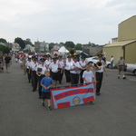 Marchingto the docks for blessing of the fleet, Stonington, CT