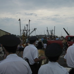 Blessing of the Fleet --the rain came down