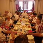 Westerly Band having dinner at Portuguese Society